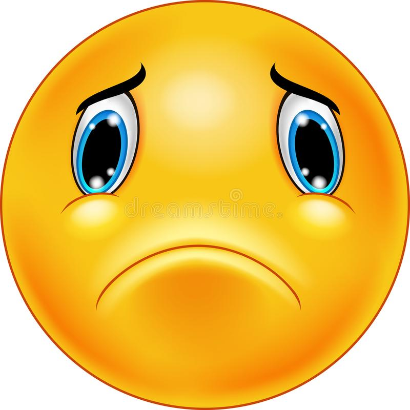emoticon πρόσωπο λυπημένο απεικόνιση αποθεμάτων