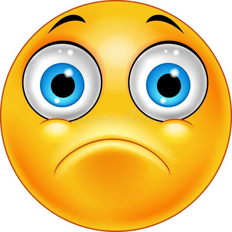 emoticon πρόσωπο λυπημένο διανυσματική απεικόνιση