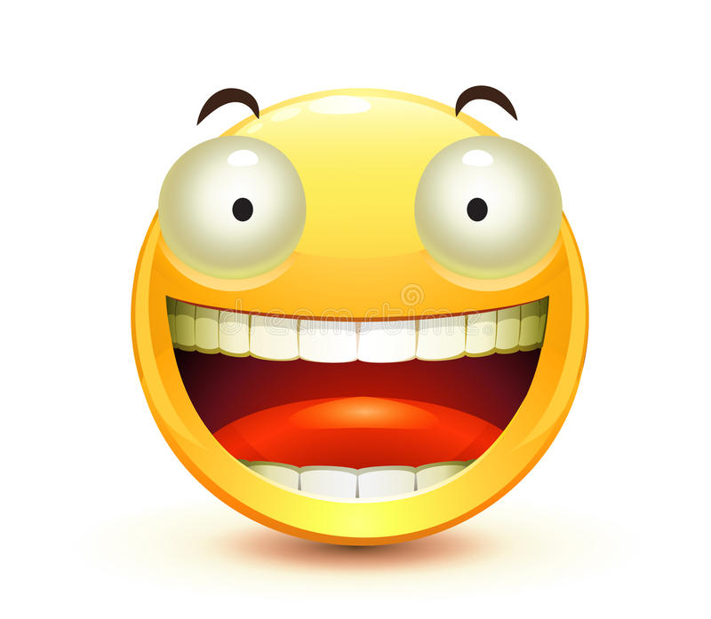 Emoticon. Vector illustration of cool glossy Single Emoticon vector illustration