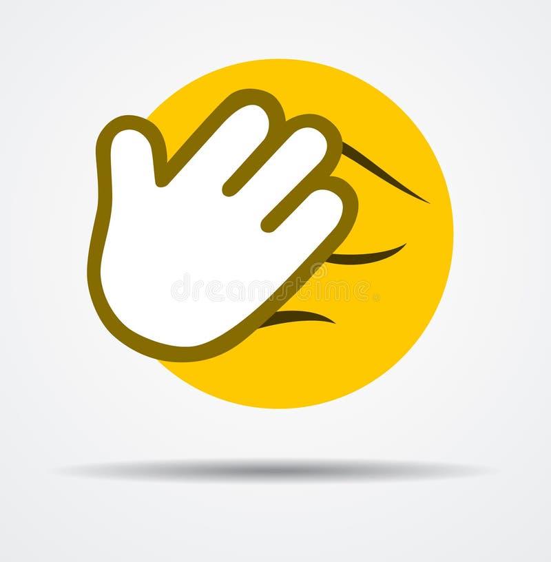 Emoticon aislado de Facepalm en un diseño plano stock de ilustración