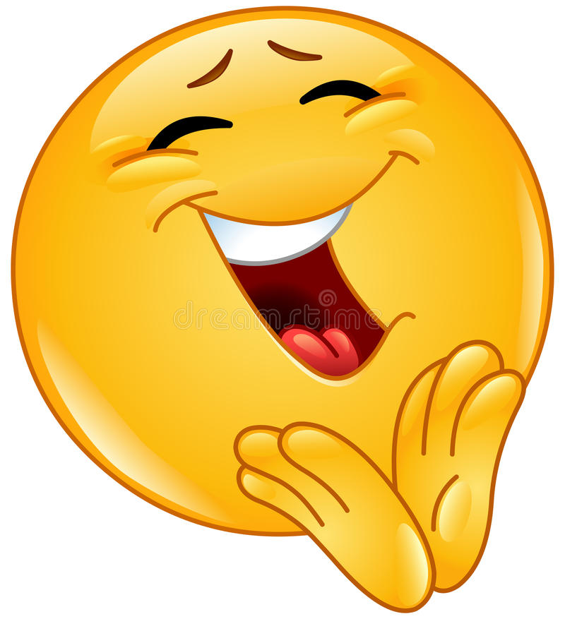 Emoticon allegro d'applauso