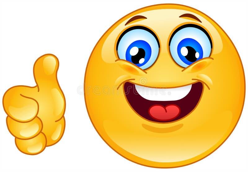 Emoticon aprovado ilustração stock