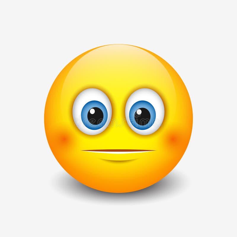Emoticon bonito indiferente, smiley, emoji - vector a ilustração ilustração do vetor