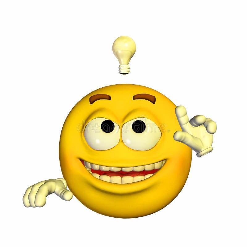 Emoticon - Briljant Idee royalty-vrije illustratie