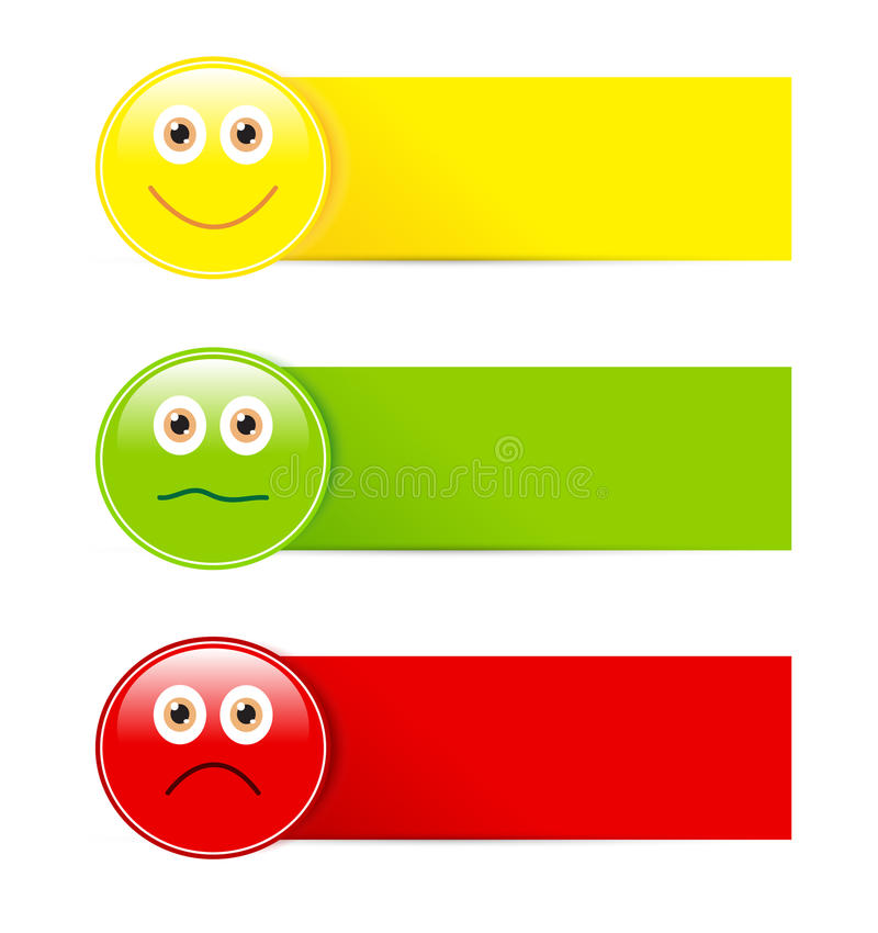 Emoticon buttons stock photos