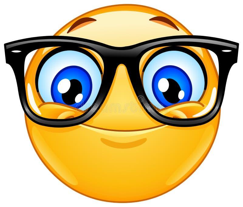 Emoticon com monóculos ilustração stock