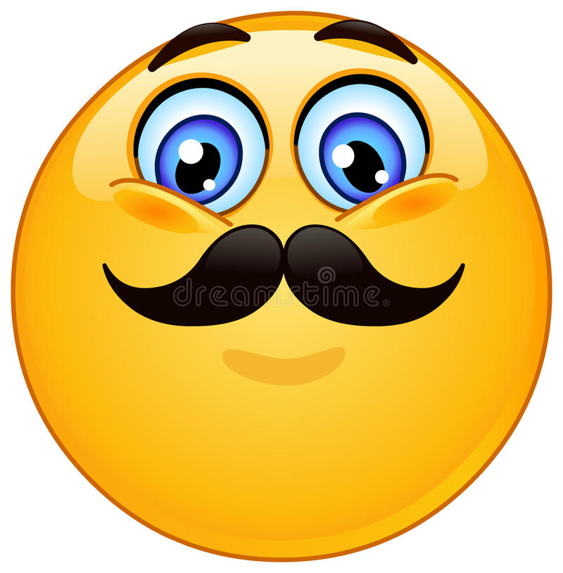 Emoticon con el bigote libre illustration