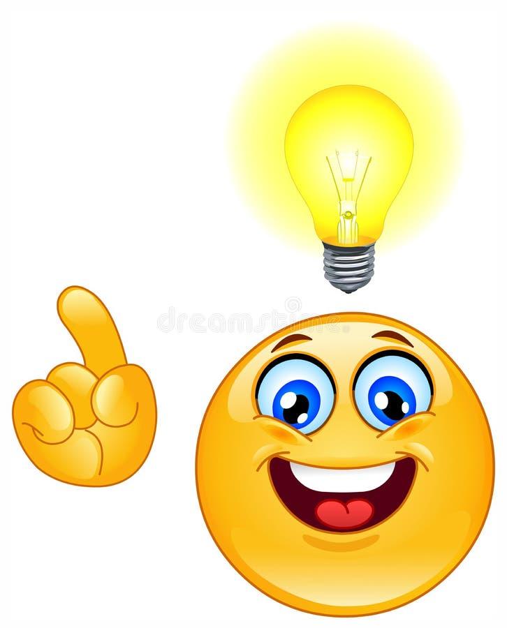 Emoticon da idéia ilustração stock
