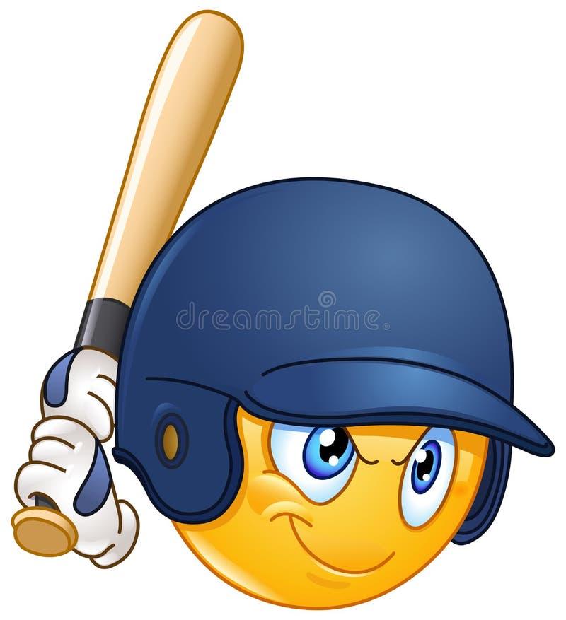 Emoticon da massa do basebol ilustração royalty free