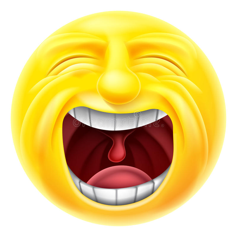 Emoticon de griterío Emoji ilustración del vector