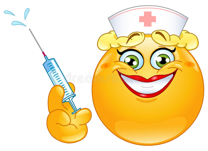 Emoticon de la enfermera stock de ilustración