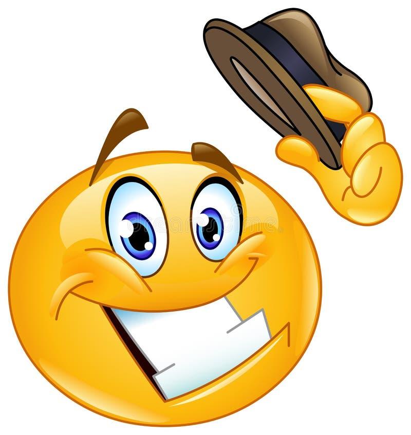 Emoticon de la extremidad del sombrero ilustración del vector