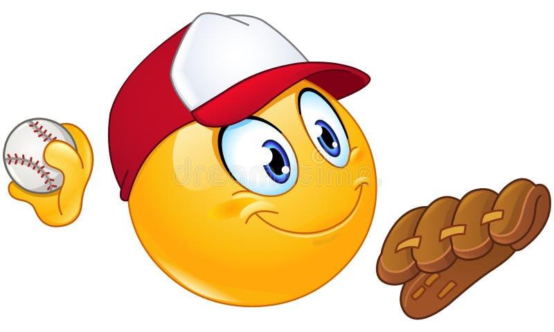Emoticon de la jarra del béisbol libre illustration