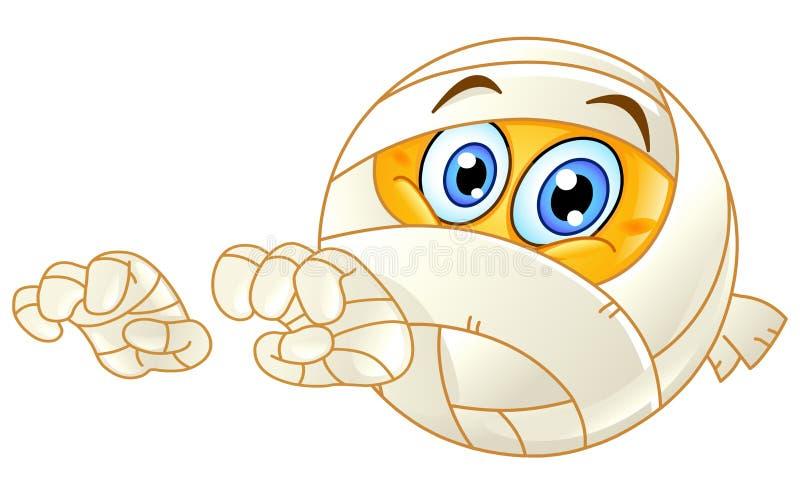 Emoticon de la momia stock de ilustración