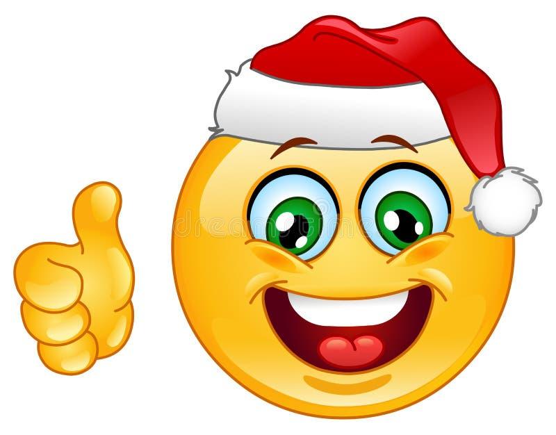 Emoticon de la Navidad libre illustration