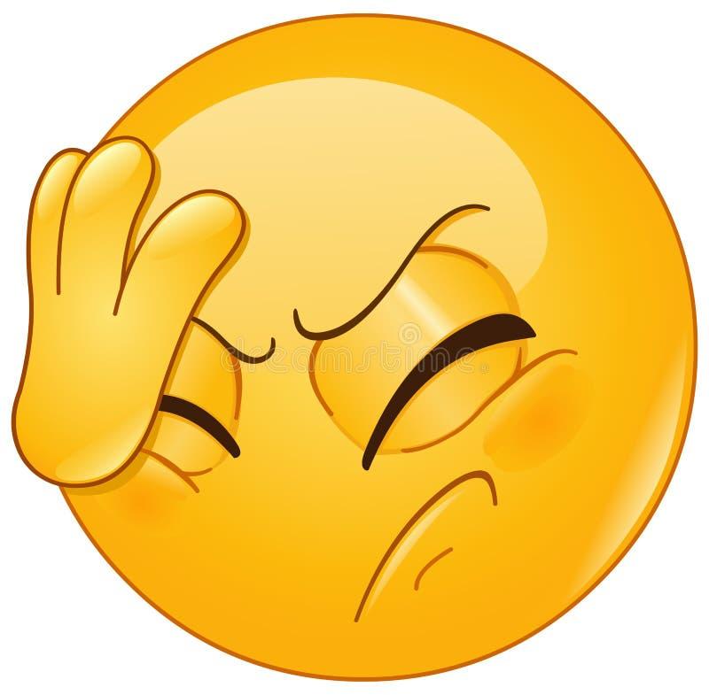 Emoticon de la palma de la cara stock de ilustración