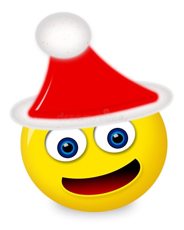Emoticon de Navidad stock de ilustración