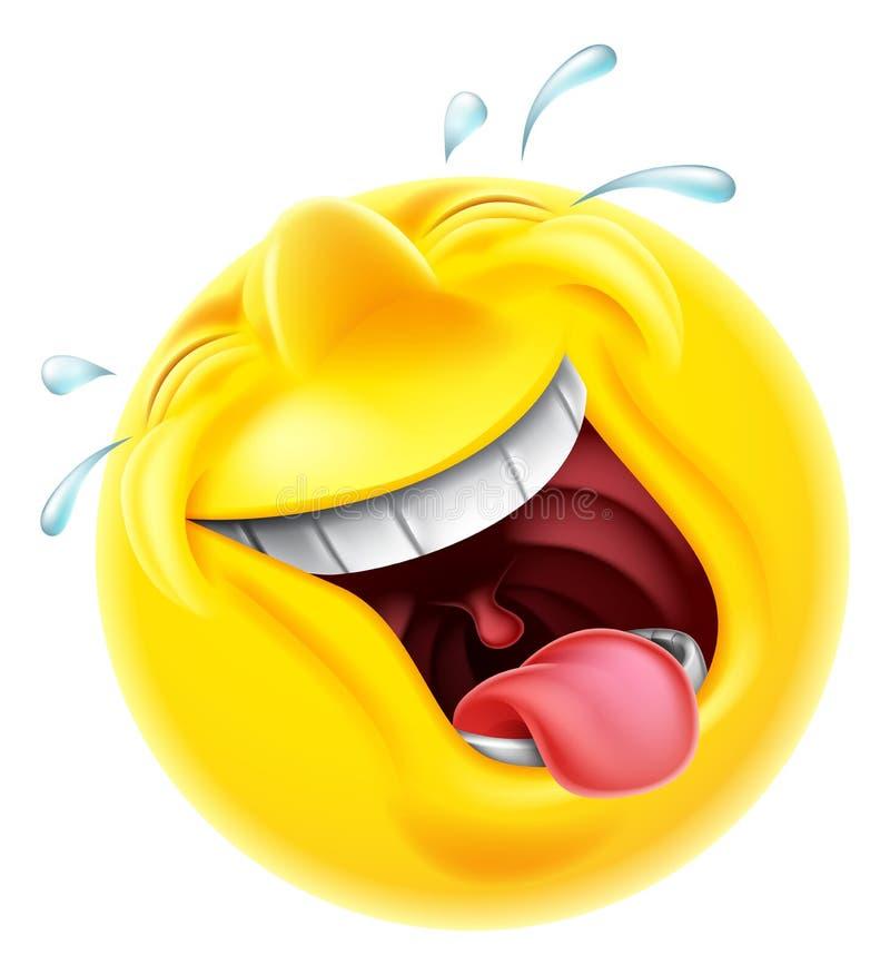 Emoticon de riso de Emoji ilustração stock
