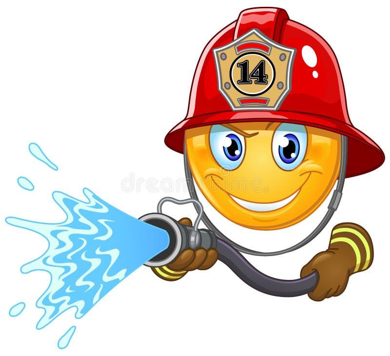 Emoticon del bombero stock de ilustración