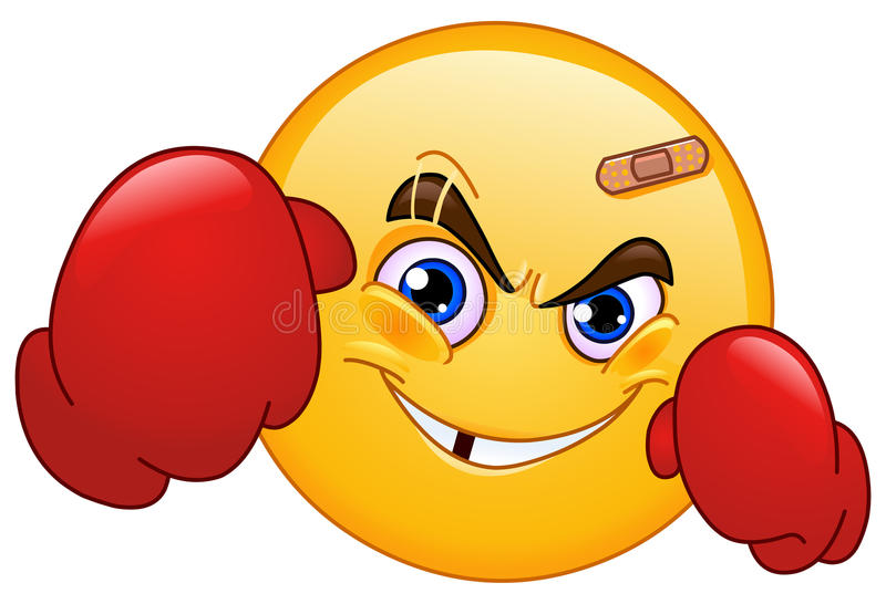Emoticon del boxeador ilustración del vector