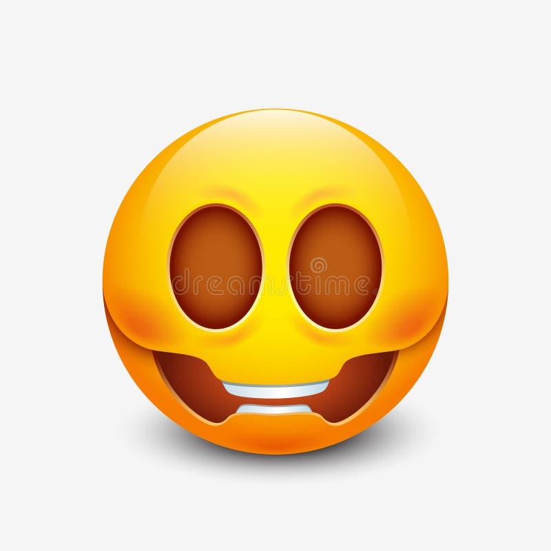 Emoticon del cráneo, emoji, smiley - vector el ejemplo libre illustration