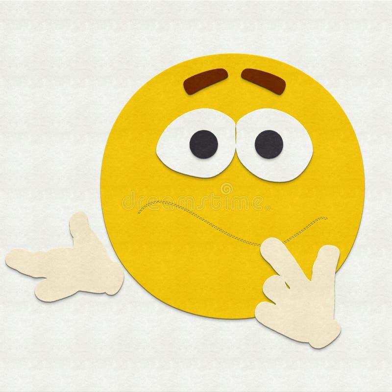 Emoticon del fieltro confundido libre illustration