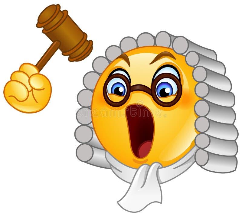 Emoticon del giudice illustrazione vettoriale