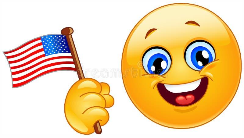 Emoticon del patriota ilustración del vector