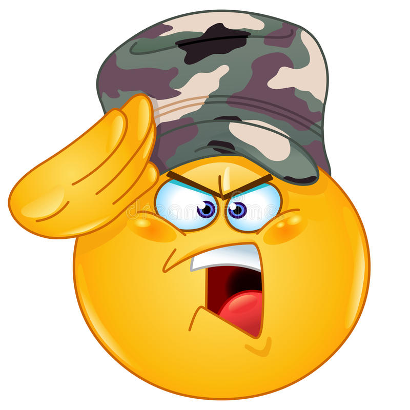 Emoticon di saluto del soldato