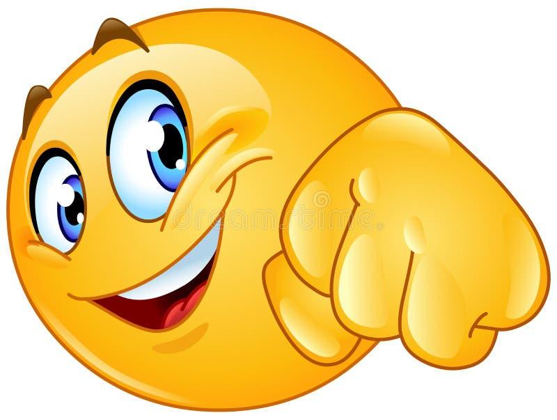 Emoticon dell'urto del pugno illustrazione vettoriale