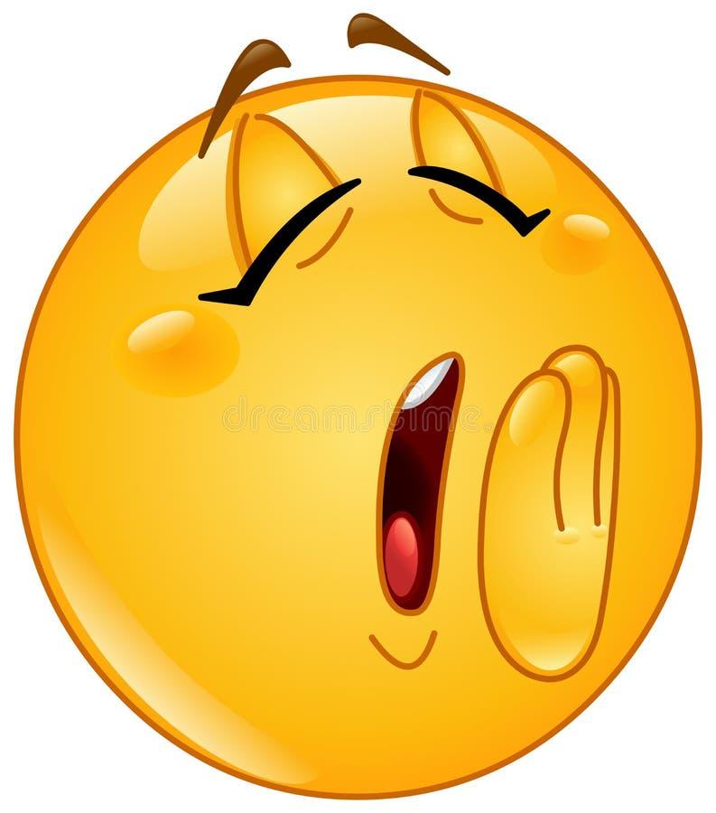 Emoticon della femmina di sbadiglio