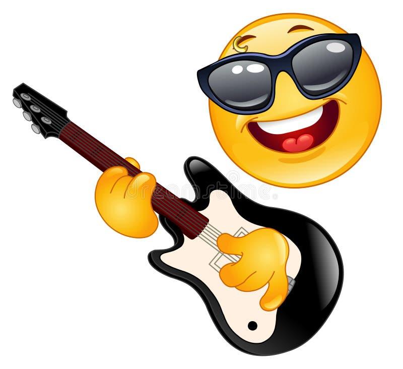 Emoticon della roccia illustrazione vettoriale