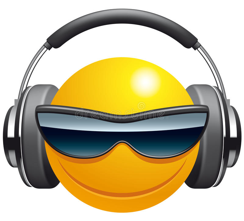 Emoticon DJ royalty ilustracja