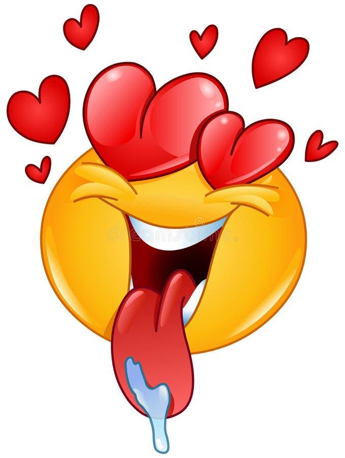 Emoticon do amor ilustração royalty free