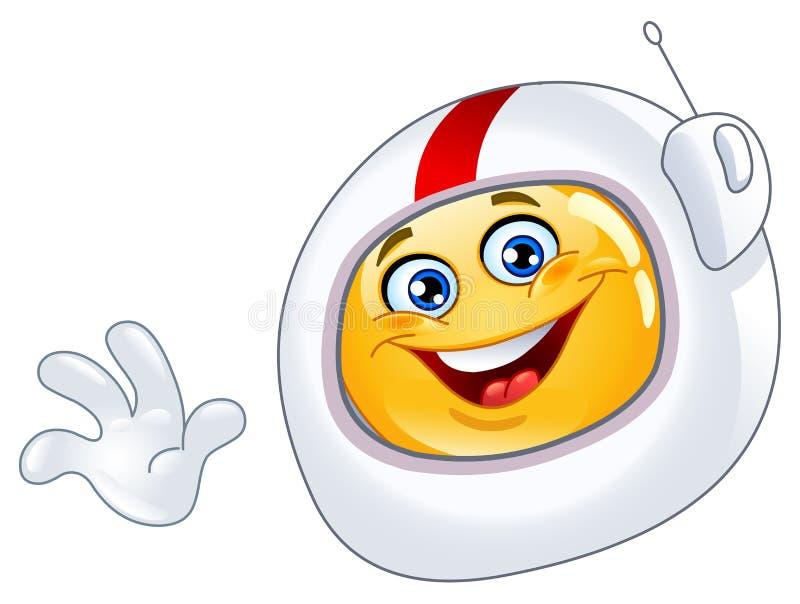 Emoticon do astronauta ilustração royalty free