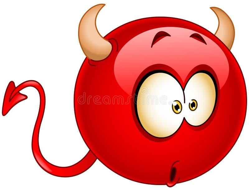 Emoticon do diabo da maravilha ilustração stock