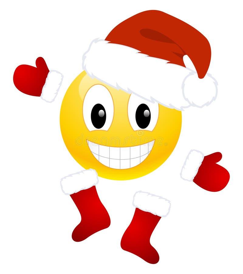 Emoticon do Natal ilustração royalty free