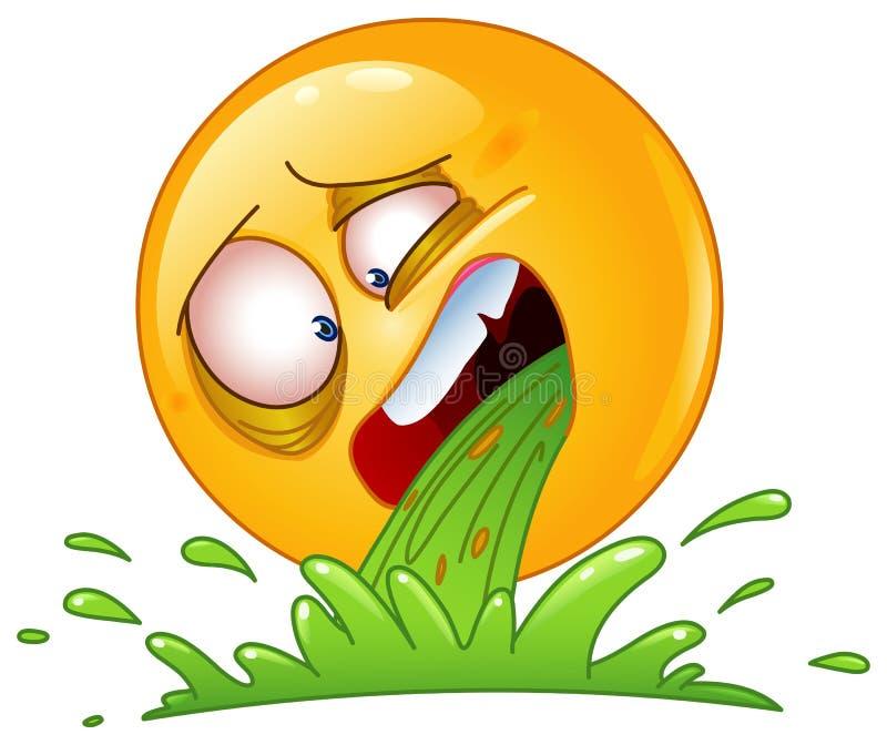 Emoticon el vomitar libre illustration