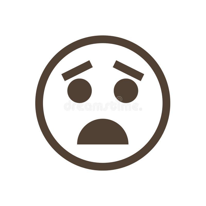 Emoticon embaraçado Ícone humano da emoção foto de stock royalty free