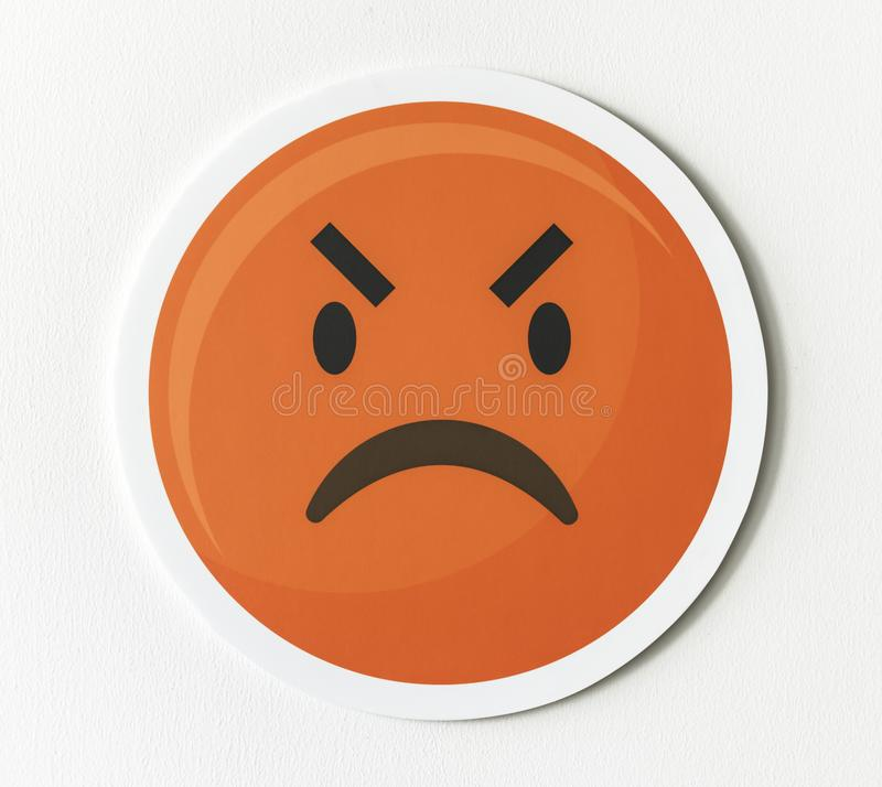 Emoticon emoji angry face icon royalty free stock photography
