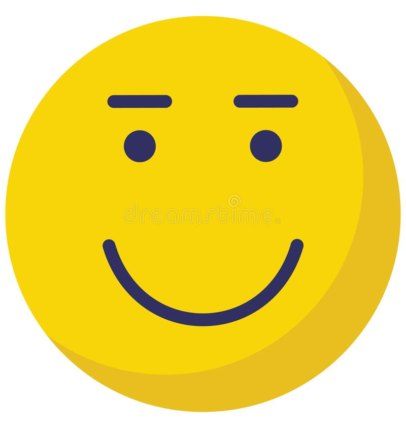 Emoticon, emoticons Vector Isolated Icon which can easily modify or edit vector illustration