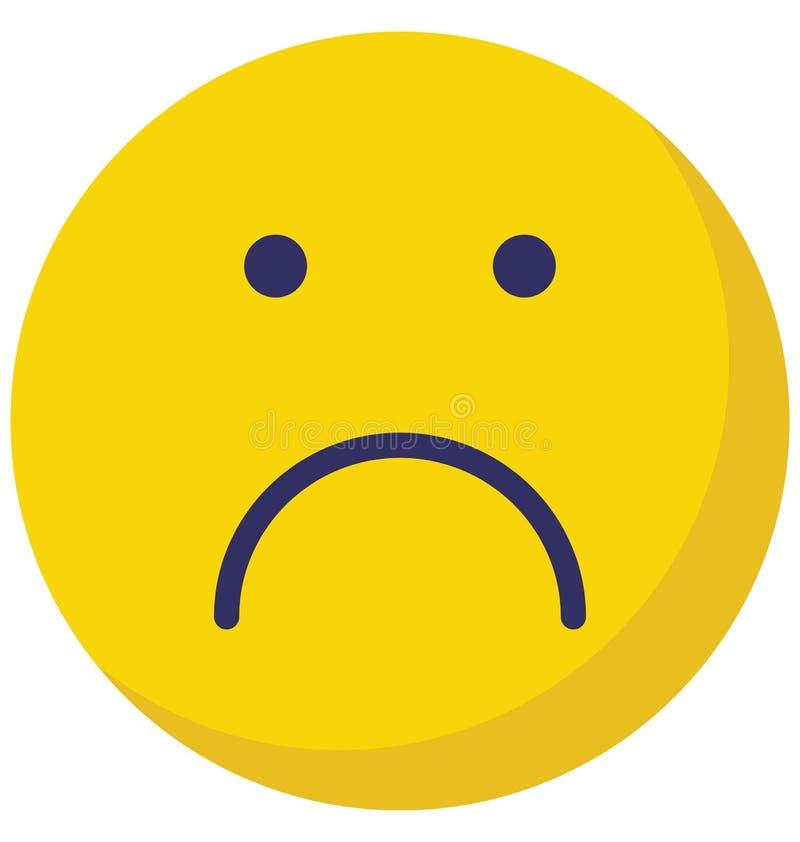 Emoticon, emoticons Wektorowa Odosobniona ikona która może łatwo redagować lub modyfikować royalty ilustracja
