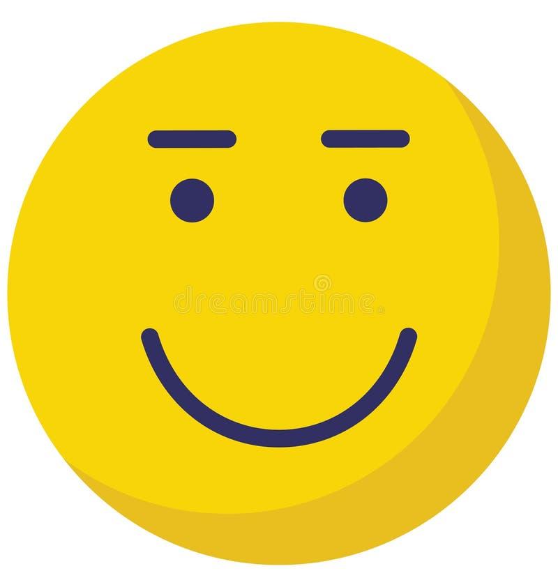 Emoticon, emoticons Wektorowa Odosobniona ikona która może łatwo redagować lub modyfikować ilustracja wektor