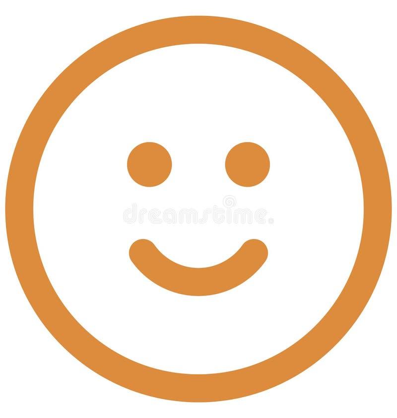 Emoticon, emoticons Wektorowa Odosobniona ikona kt?ra mo?e ?atwo redagowa? lub modyfikowa? ilustracji