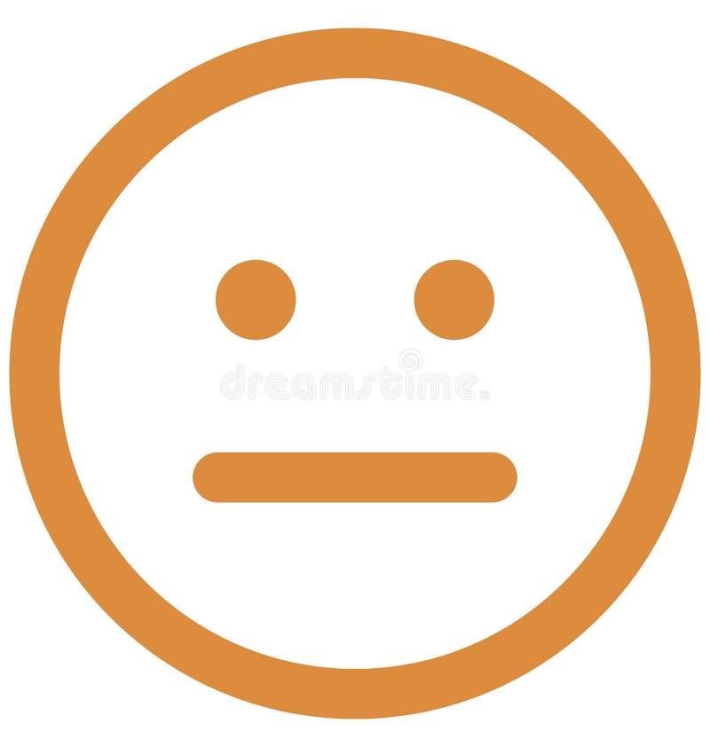 Emoticon, emoticons Wektorowa Odosobniona ikona kt?ra mo?e ?atwo redagowa? lub modyfikowa? ilustracja wektor