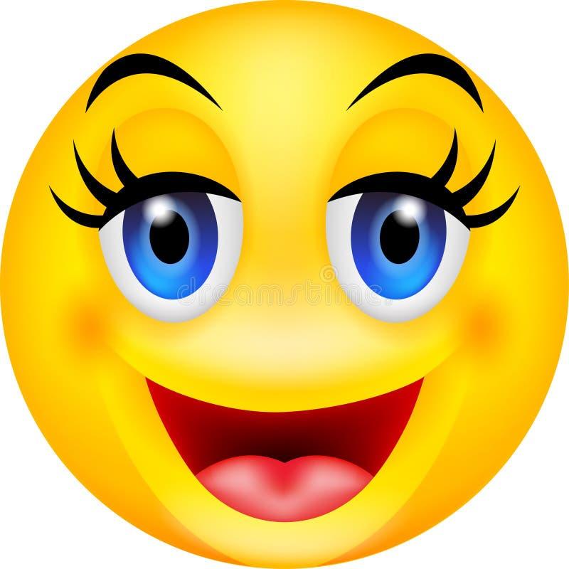 Emoticon engraçado do sorriso ilustração stock