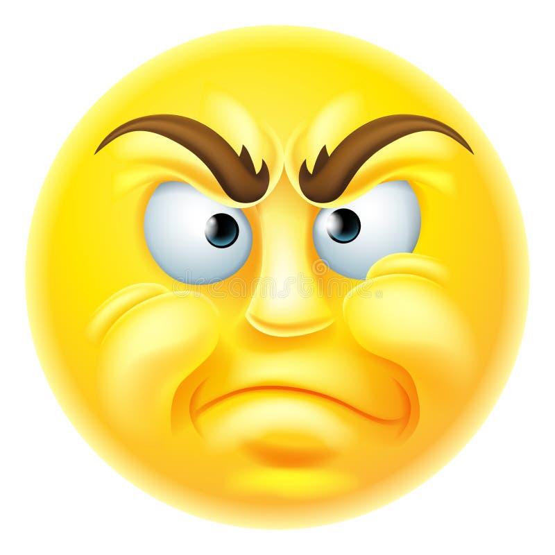 Emoticon enojado o de desaprobación Emoji libre illustration