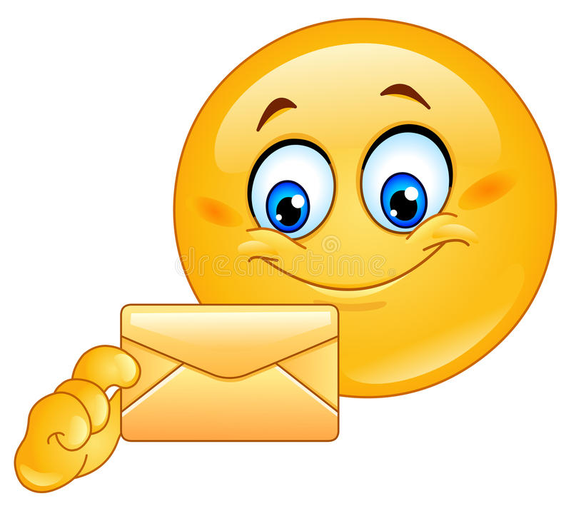 Emoticon with envelope. Design on an emoticon with envelope