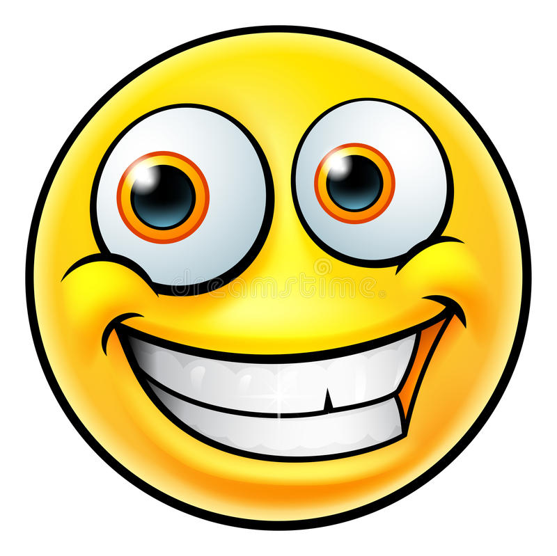 Emoticon felice di Emoji illustrazione di stock