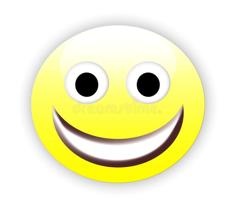 Emoticon feliz ilustración del vector